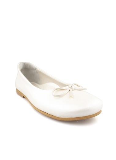 Cici Bebe Ayakkabı Rugan E Kız Çocuk Babet Krem